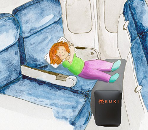 Inflatable Travel Pillow For Leg Rest On Airplanes And
