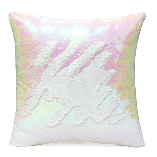 U Miss Mermaid Pillow With Pillow Insert By Two Color Decorative