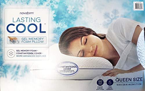 Novaform Lasting Cool Gel Memory Foam Pillow Queen Size