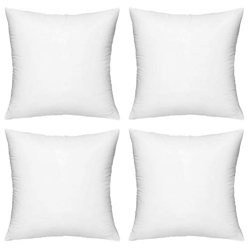 Hippih 4 Pack 18 X 18 Pillow Inserts Hypoallergenic