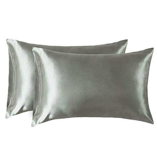 EZ Dreams Antistatic Zippered Pillow Protector Queen Satin Touch Microfiber