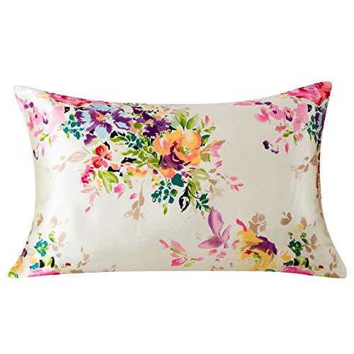Silk Pillowcase For Hair And Skin With Hidden Zipper Print